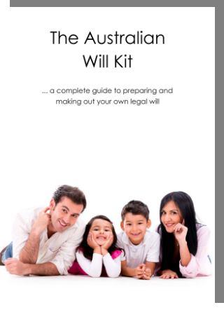 Australian Will Kit hardcopy cover image
